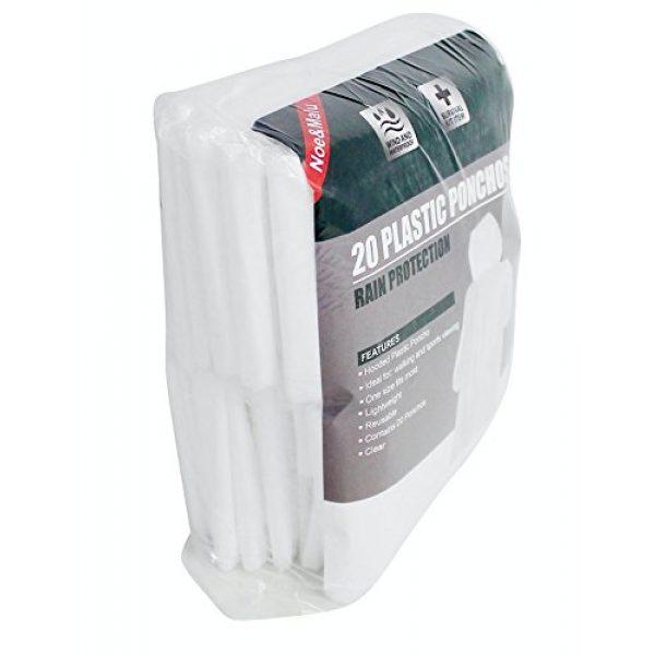 Noe&Malu Poncho 4 Noe&Malu Disposable Emergency Clear Rain Poncho for Adults - 20 Pack