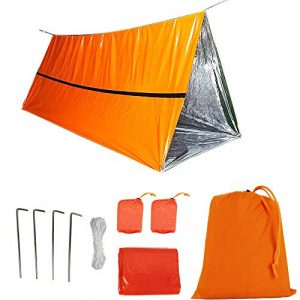 Funlove Survival Kit 1 Funlove 2 Person Survival Emergency Tent- Use As Survival Tube Tent, Emergency Shelter, Survival Sleeping Bag, Survival Tarp