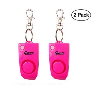 Amelie beauty Survival Alarm 1 Amelie beauty Personal Security Alarm [2 Pack] - 130 dB Loud Emergency Alarm with Backup Whistle for Children, Girls, Ladies and Elder People