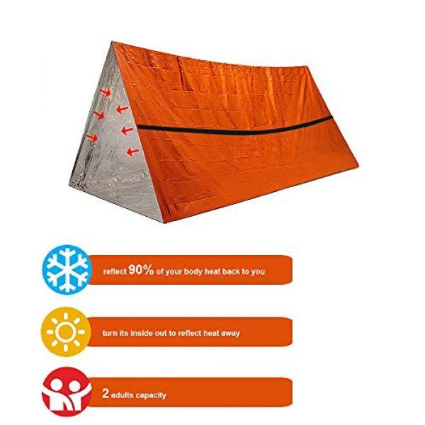 Funlove Survival Kit 3 Funlove 2 Person Survival Emergency Tent- Use As Survival Tube Tent, Emergency Shelter, Survival Sleeping Bag, Survival Tarp