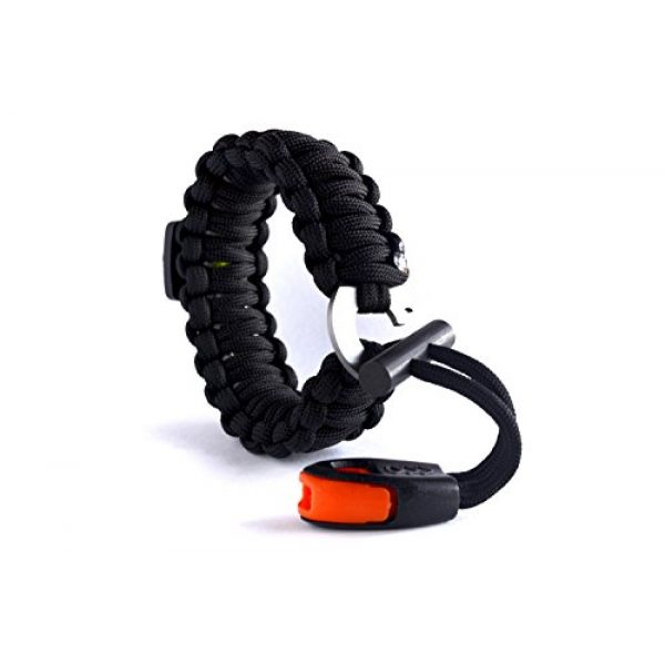 Right Sport Survival Bracelet 3 Right Sport Backpacking/Camping/Hiking Bracelet Emergency 550 Paracord Band Includes 18 Pieces of Survival Gear - Whistle, Compass, Bottle Opener, Fire Starter, Knife and More in Kit