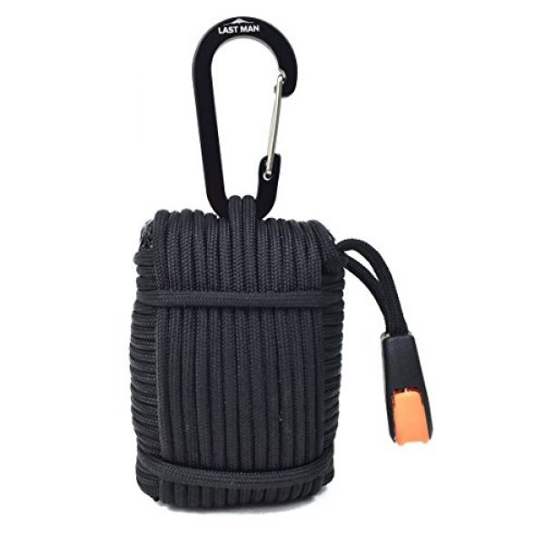 LAST MAN Survival Gear Survival Kit 2 26 Piece Paracord Survival Kit with Thermal Blanket, Fishing Kit, Fire Starter, First Aid, Gear Repair, Emergency Whistle, and More!