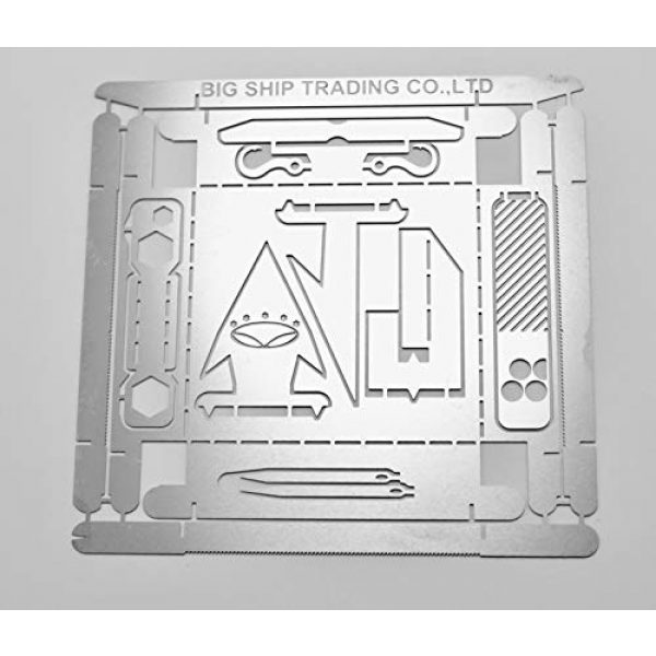 Big ship trading Survival Tool 1 Big ship trading BST Survival Cards.Multitool for Camping and Wilderness Survival Preppers Gear; Camping Hiking Hunting Emergency Kit