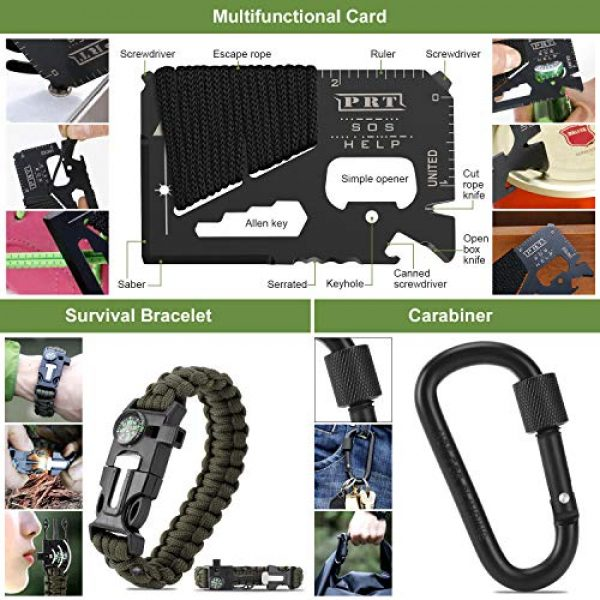 Verifygear Survival Kit 7 Verifygear Survival Kit, 17 in 1 Professional Survival Gear Tool Emergency Tactical First Aid Equipment Supplies Kits for Men Women Families Hiking Camping Adventures