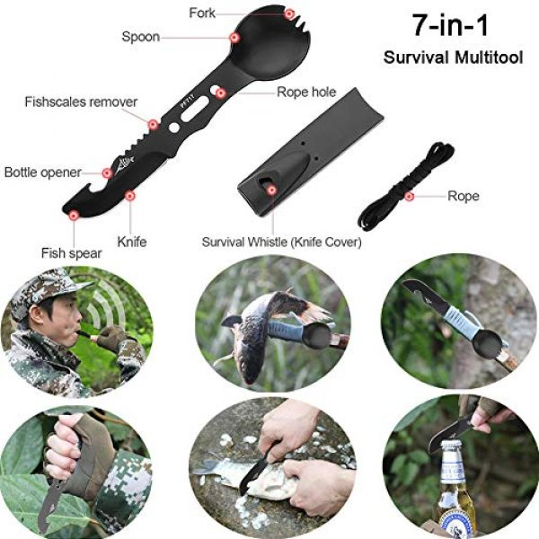 Tianers Survival Kit 2 Tianers Gifts for Men Husband Dad Friend, Emergency Survival Kit 16 in 1, Upgrade Compact Survival Gear, Cool EDC Survival Tool for Cars, Camping, Hiking, Hunting, Fishing, Adventure Accessorie