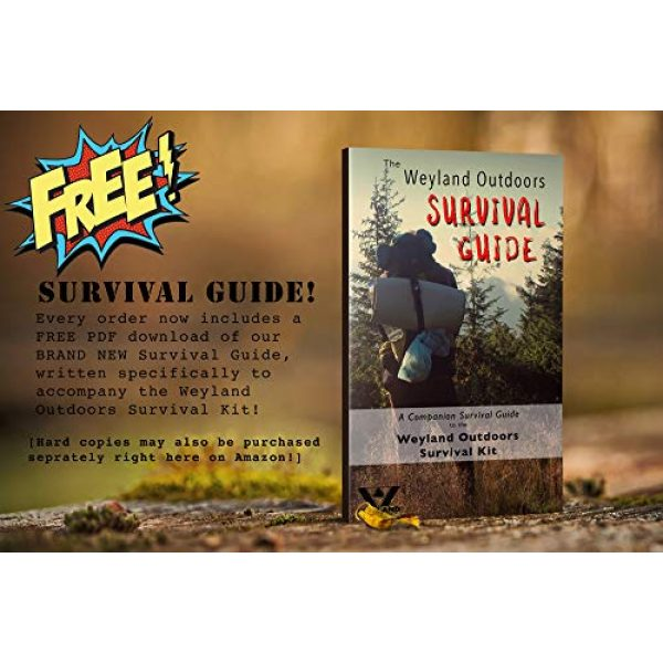 WEYLAND Survival Kit 4 WEYLAND Emergency Survival Kit - Outdoor Survival Gear, Full Size Tactical Bushcraft Knife and Essential Camping and Hiking Tools for Any Outdoorsman
