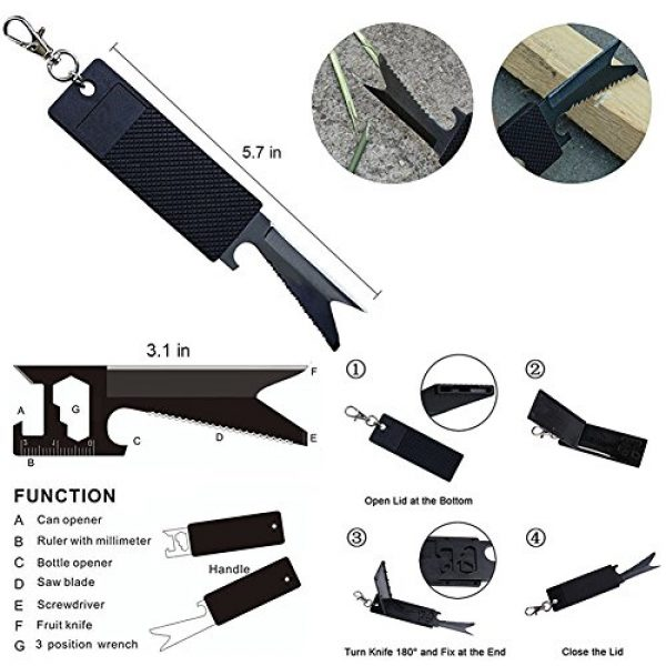 XUANLAN Survival Kit 5 XUANLAN Emergency Survival Kit 13 in 1, Outdoor Survival Gear Tool with Survival Bracelet, Fire Starter, Whistle, Wood Cutter, Water Bottle Clip, Tactical Pen (Survival Kit 3)