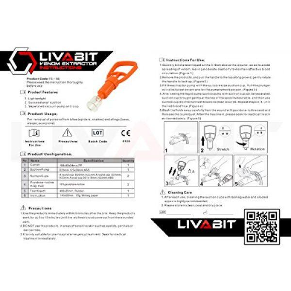 LIVABIT Survival Kit 6 LIVABIT Dual Pack First Response Safety Tool Emergency Kit Venom Sting Extractor Pump & SOS Survival Multi Tool Pack