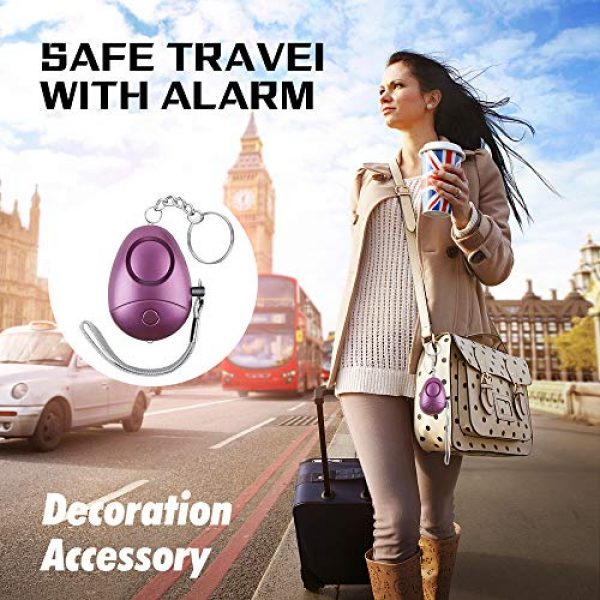 Hacoon Survival Alarm 3 Personal Alarm, Safe Sound Security Personal Alarm for Women,Kids, Elderly, Emergency Safe Personal Alarm with LED Flashlight, Keychain,Personal Alarms-safey and Self Defense Alarm 130DB Siren Song