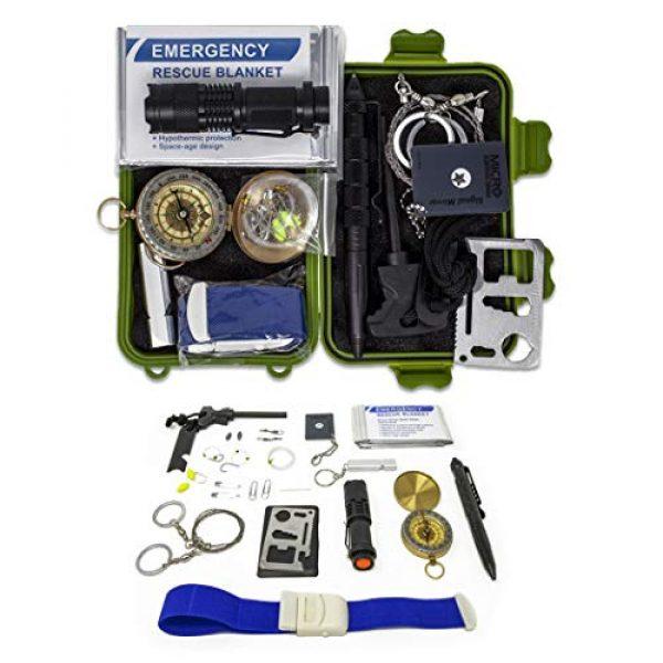 Gearrific Survival Kit 1 Gearrific 26-Piece Watertight Survival Kit, Compact Car Emergency Set