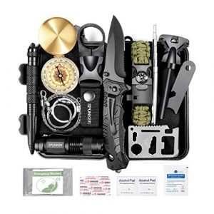 SPUNKER Survival Kit 1 SPUNKER Gifts for Men Dad Fathers Day,15 in 1 Survival Kit,Birthday Gifts Ideas for Him Husband Boyfriend Teen Boy,Cool Gadget, Fishing,Camping,Survival Gear