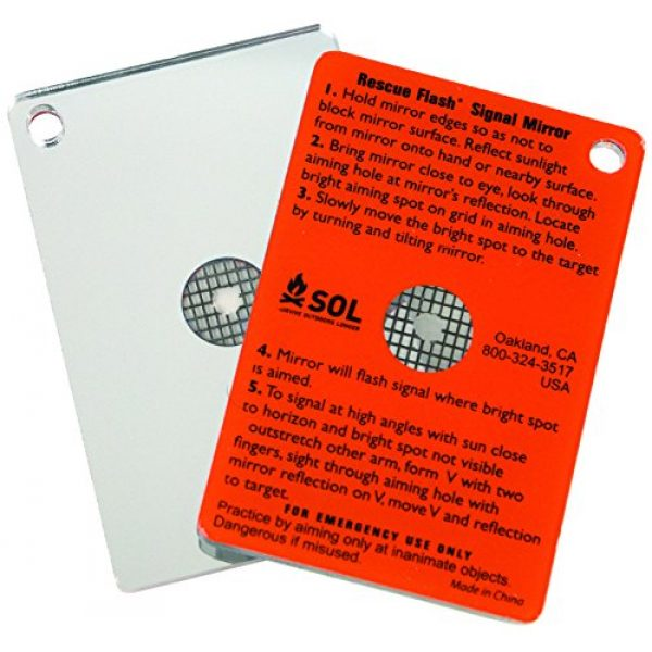 S.O.L. Survive Outdoors Longer Survival Mirror 2 S.O.L. Survive Outdoors Longer S.O.L. Rescue Flash Emergency Mirror (Pack of 2)