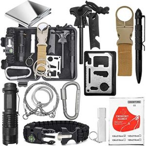 Jokmae Survival Kit 1 Emergency Survival Gear Kit - Gifts For Christmas Birthday Fathers Day Graduation, Edc Tool for Outdoor Backpack Hiking, Presents for Men Kids Teen Boy Scout Veterans Husband Dad Valentine Boyfriend