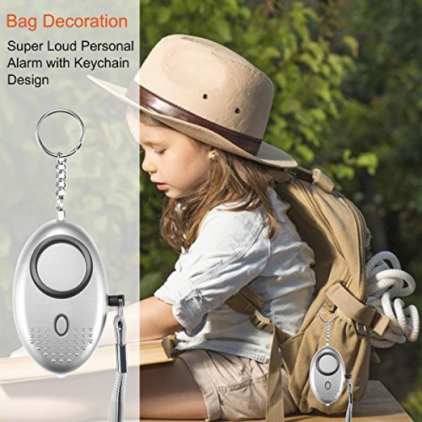 Dland Survival Alarm 6 Dland 130db Safesound Personal Alarm Set of 4, Personal Security Alarm Keychains with LED Safty Light and Emergency Alarm, Self Defense Electronic Device for Women Girls Elderly Safety. (Mixed Color)