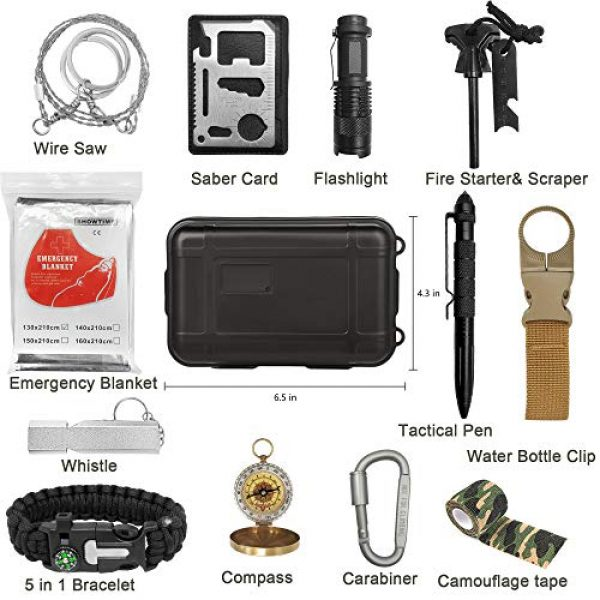 XMQY Survival Kit 2 Pocket Survival Kits - Boy Scout Gifts First Aid Kit Camping Gear Emergency Tools Car Gadgets Multitool Hiking Hunting Accessories Fathers Day Graduation Birthday Presents for Dad Son Him Men Husband