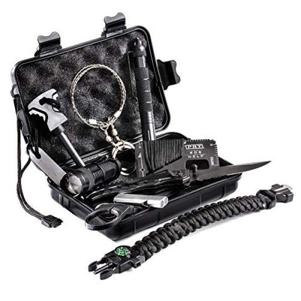 Phase 2 Tactical Survival Kit 2 Phase 2 Tactical Survival Gear Kit - This 11-Piece Emergency Survival Kit Ensures That Youll Be Ready for Anything - High-End, Portable Prepper Gear from a Proud American, Veteran-Owned Business