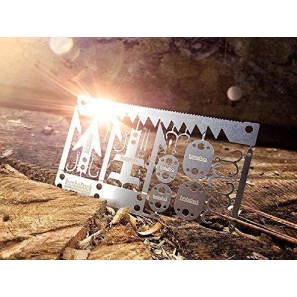 RumbaDock Survival Tool 2 Survival MultiTool Card Sized:Bug Out Bag CampingTool: Best Multitool for Camping and Wilderness Survival Preppers Gear; Fishing Camping Hiking Hunting Emergency Kit;