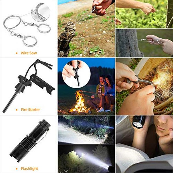 Welltop Survival Kit 3 Welltop 12 in 1 Outdoor Survival Kits Fishing Hunting Gear Hiking Camping Equipment Outdoor Adventure Gifts Ideas EDC Emergency Tools Cool & Unique Gadgets Gifts for Men Dad Husband Boyfriend