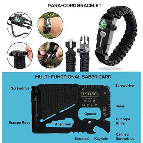 LIT FITNESS Survival Kit 6 LIT FITNESS Survival Kits 12-in-1 Emergency Survival Kit, Including Rock Climbing Gear, Emergency Blankets, Survival Bracelet, Tactical Pen, Tactical Flashlight, Gift Sets for Men