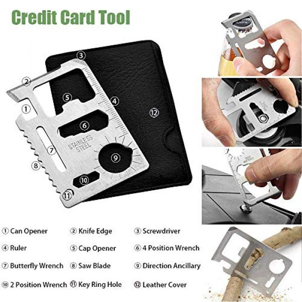 Revelook Survival Kit 3 Revelook Emergency Survival Multitool - First Aid Kit Boy Scout Camp Tool EDC Pocket Camping Gear Car Hunting Accessories Gifts for Men Father Son Husband Christmas Day Birthday Present
