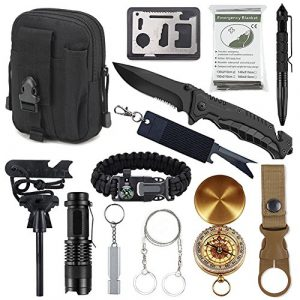 Tianers Survival Kit 1 Gifts for Men Dad Husband, Survival Kit 14 in 1, Hunting Birthday Gifts Ideas for Him Boyfriend Teen Boy, Cool Gadget Christmas Stocking Stuffer, Survival Gear, Emergency Camping Hiking Gear