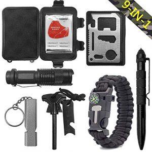 PioneerHiker Survival Kit 1 Multitool Gifts for Men - Outdoor Multifunction Survival Kit Hunter Hiker Fathers Day Graduation Birthday Present Him Son Dad