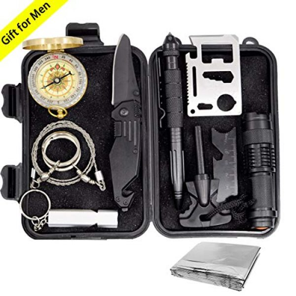 Revelook Survival Kit 1 Revelook Emergency Survival Multitool - First Aid Kit Boy Scout Camp Tool EDC Pocket Camping Gear Car Hunting Accessories Gifts for Men Father Son Husband Christmas Day Birthday Present