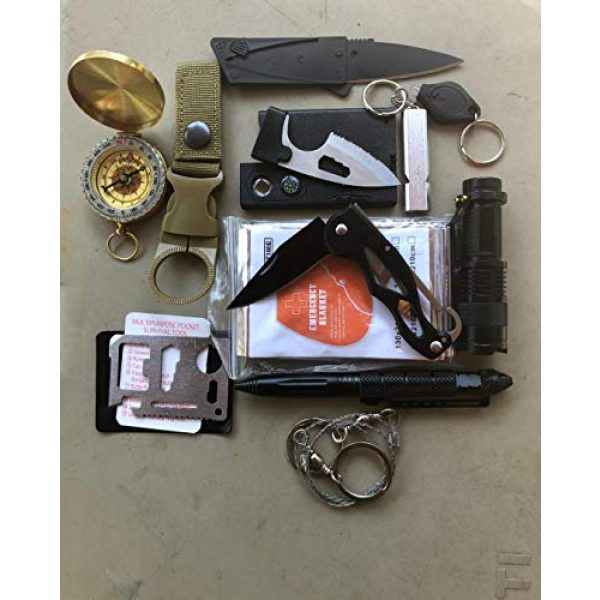 Cowboy Depot Survival Kit 2 Camping Gear Survival Kit: Emergency Survive Tool Wilderness for Men and Women in Cars Hiking tactical Compass flashlight credit card knifes 11-1 multi-tool bottle clip saw tactical pen and more