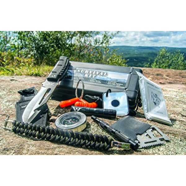 WEYLAND Survival Kit 5 WEYLAND Emergency Survival Kit - Outdoor Survival Gear, Full Size Tactical Bushcraft Knife and Essential Camping and Hiking Tools for Any Outdoorsman