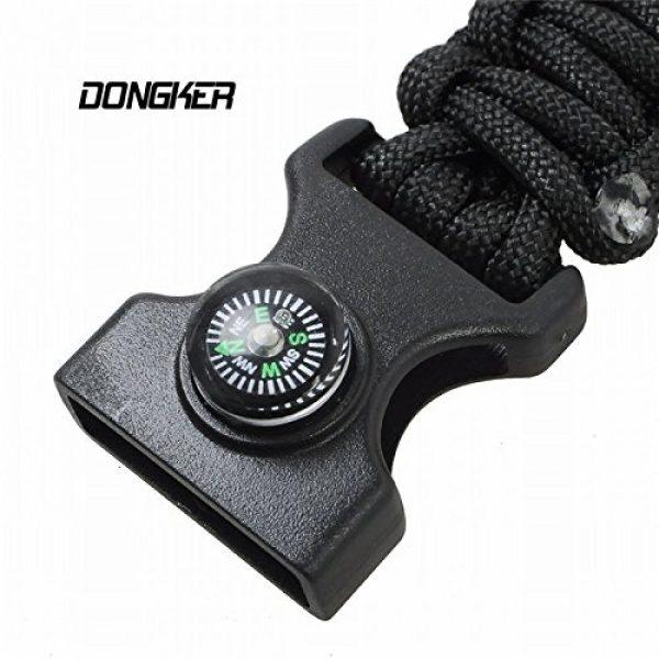Q4Home Survival Bracelet 6 Q4Home Paracord Survival Bracelet; 5 in 1 Survival Bracelets Kit. Paracord, Fire-Starter Flint, Whistle, Compass, Multi Tactical Tool.