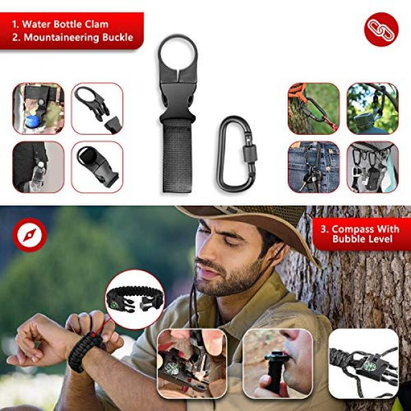Limechoes Survival Kit 7 Limechoes Survival Kit,15 in 1 Emergency Survival Kit and Equipment Tools, Professional Survival Gear for Camping, Hiking. Adventure Outdoors Sport. Creative &Cool Birthday Gifts for Men.