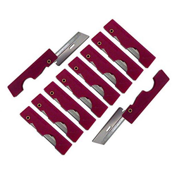 Derma-Safe Survival Razor Blade 1 Derma-Safe Folding Utility Razor (10-pack) for Survival and First Aid Kits