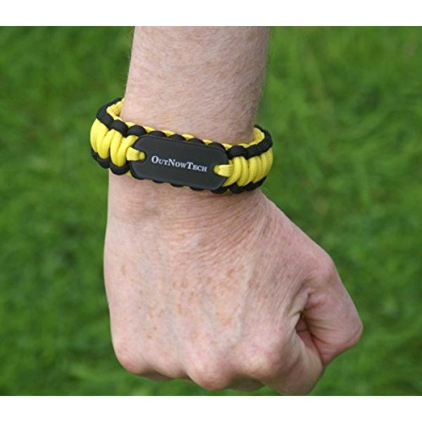 OutNowTech Survival Bracelet 4 OutNowTech Paracord Survival Bracelet with Whistle and Fire Starter - Easy to Carry Emergency Survival Gear Kit - Unravels to Provide 10ft of Paracord 550