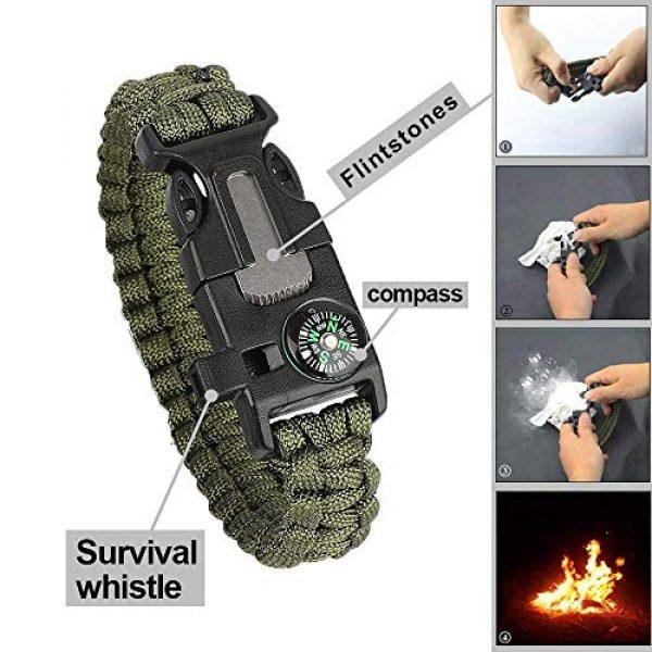 Lanqi Survival Kit 7 Lanqi Gifts for Men, Emergency Survival kit 14 in 1, Survival Gear, Tactical Survival Tool for Cars, Camping, Hiking, Hunting, Fishing (Survival kit 2)