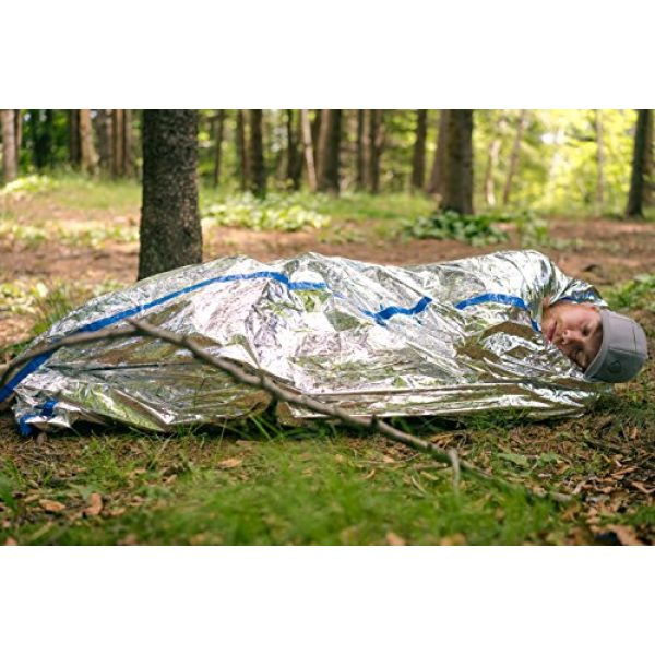 BlizeTec Quality Matters! Survival Shelter 7 BlizeTec Emergency Bivy Sack Mylar Thermal Survival Blanket and Tube Tent with Mini Carry Bag