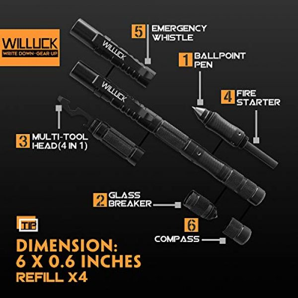 misuki Survival Pen 2 Gifts for Men Dad,Tactical Pen (8-in-1),Cool & Unique Anniversary Birthday Gifts for Boyfriend Him Husband Dad,Fun Gadget Mens Gifts Ideas,Emergency Tool Survival Gear Kit,Gift Box
