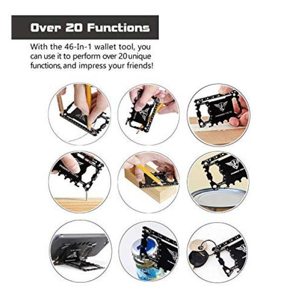 Hiverst Survival Pen 5 Hiverst Tactical Pen EDC Survival Gear Gift Set | Wallet Pocket Multi-Tool Credit Card - Self Defense for WomenCool Gadgets for Men