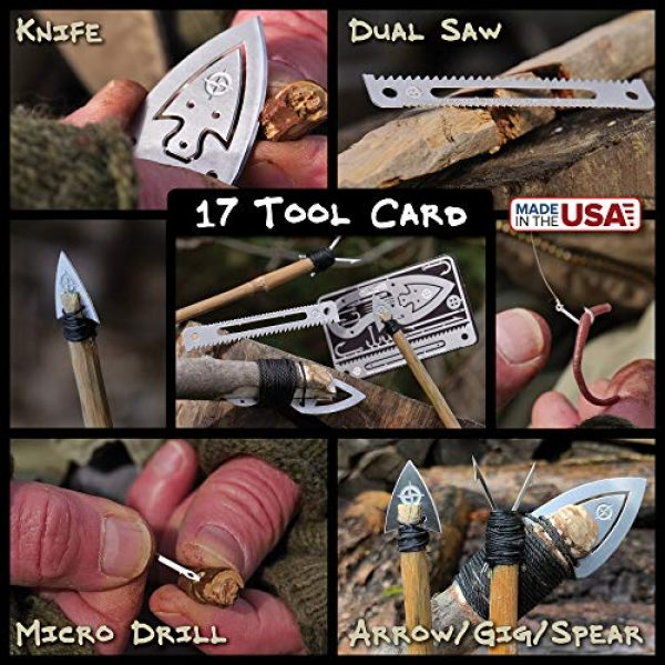 ULTIMATE SURVIVAL TIPS BE PREPARED-BECAUSE YOU NEVER KNOW Survival Kit 4 Tiny Survival Card: A 17-Tool Survival Kit with Knife That Fits in Your Wallet - Ultimate EDC, Multitool Card for Your Wallet - Great Gift!