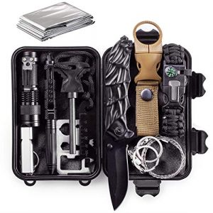 CQQKS Survival Kit 1 CQQKS Gifts for Men Him Husband Dad Boyfriend Teen Boys Brother, Survival Gear Kit for Camping Hiking Fishing Tactical Military