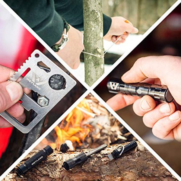WEYLAND Survival Kit 6 WEYLAND Emergency Survival Kit - Outdoor Survival Gear, Full Size Tactical Bushcraft Knife and Essential Camping and Hiking Tools for Any Outdoorsman