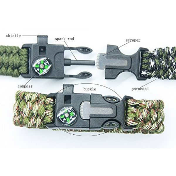 3 Bears Survival Bracelet 3 3 Bears Outdoor Survival Paracord Bracelet with Compass Fire Starter and Emergency Whistle(Pack of 3)