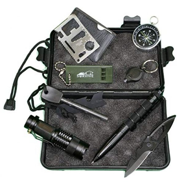 Taitenn Survival Kit 1 Taitenn Survival Tools kit. Compact Light Weight, Suitable for Hiking, Camping, and Inside Vehicle Emergency Escape. Peace of Mind to Carry for Wildness Adventure. Tough, Durable and Easy to use.