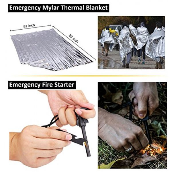 XMCOSOCS Survival Kit 3 Survival Kit 11 in 1 - Gift for Men Father Husband Dad Mom Boy Boyfriend, Present for Birthday Valentines Day Graduation Christmas | SOS Emergency Tool - Outdoor Gear for Car Hiking Camping Climbing