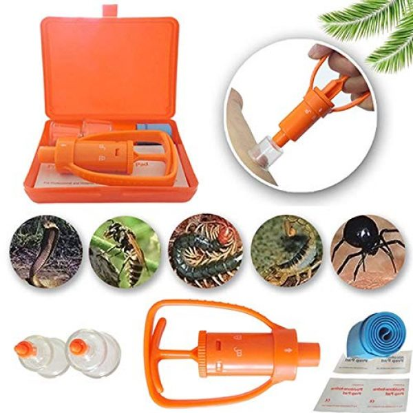 BYBYCD Survival Kit 3 Outdoor Survival Rescue Emergency Safety Tool Venom Extractor First Aid Kit Wild Vipers Bees Biting Venom Vacuum Extractor Pump