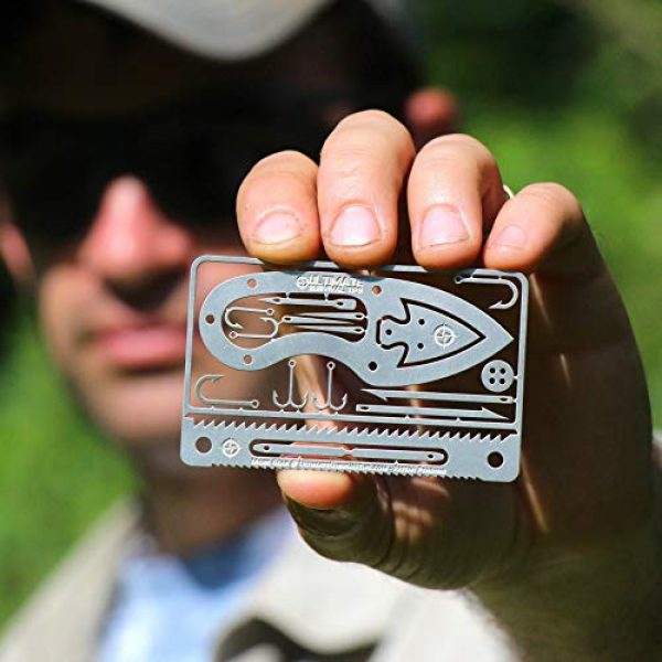 ULTIMATE SURVIVAL TIPS BE PREPARED-BECAUSE YOU NEVER KNOW Survival Kit 5 Tiny Survival Card: A 17-Tool Survival Kit with Knife That Fits in Your Wallet - Ultimate EDC, Multitool Card for Your Wallet - Great Gift!