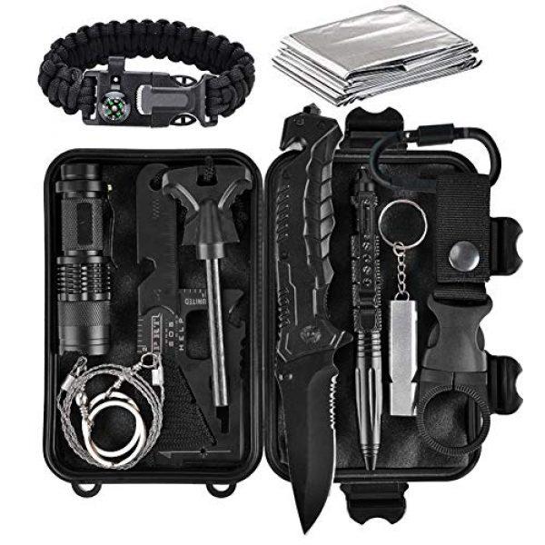 Lanqi Survival Kit 1 Lanqi Gifts for Men, Emergency Survival kit 14 in 1, Survival Gear, Tactical Survival Tool for Cars, Camping, Hiking, Hunting, Fishing (Survival kit 3)
