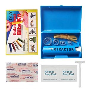 DLY Survival Kit 1 DLY Snake Bite Kit, Bee Sting Kit, Emergency First Aid Supplies, Venom Extractor Suction Pump, Bite and Sting First Aid for Hiking, Backpacking and Camping