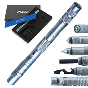 WILLUCK Survival Kit 1 Gifts for Dad Men Husband,Tactical Pen (8-in-1),Cool Anniversary Birthday Gifts for Boyfriend Him,Gift Box