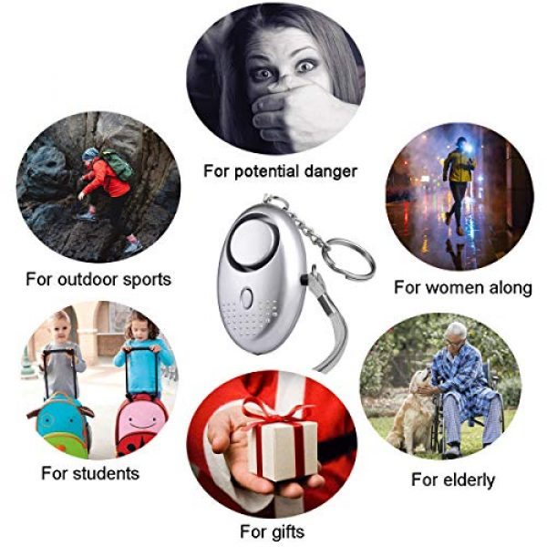 FansArriche Survival Alarm 6 FansArriche 3 PACK SafeSound Personal Alarm Keychain Self Defense Protection Devices 140 DB for Women/Kids/Girls/Elderly