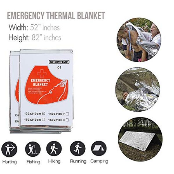 Justech Survival Kit 2 Justech Emergency Survival Kit 13 in 1, Mini Survival Gear Kit Outdoor Survival Tool with Thermal Blanket Carabiner Bracelet Fire Starter More for Adventure Outdoors Sports Traveling Hiking